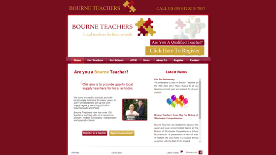 Bourne Teachers for teaching jobs in Dorset