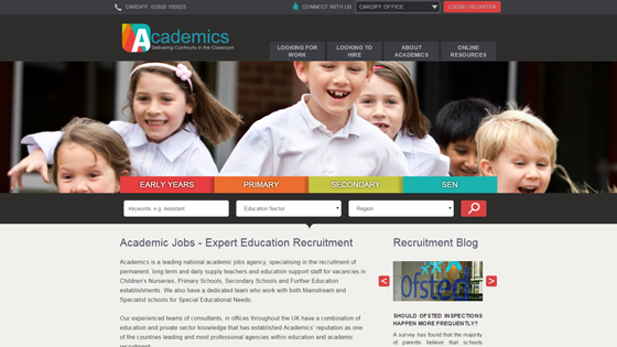 Academic for teaching jobs in Cardiff