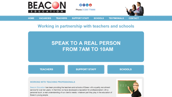 Beacon Education for teaching jobs in Essex