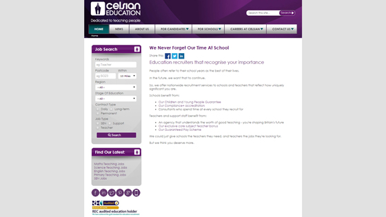 Celsian Education for teaching jobs in Derby