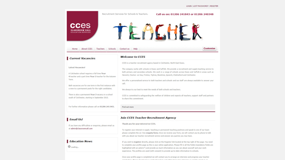 Classroom Call for teaching jobs in Essex