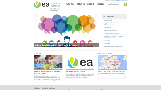 Education Authority for teaching jobs in Belfast