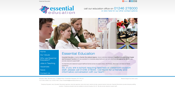 Essential Education for teaching jobs in Derbyshire