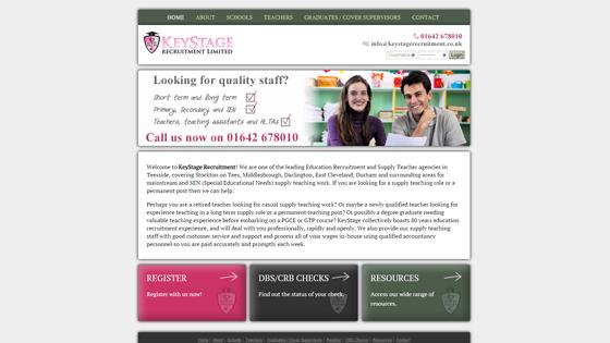 Keystage Recruitment Ltd for teaching jobs in County Durham