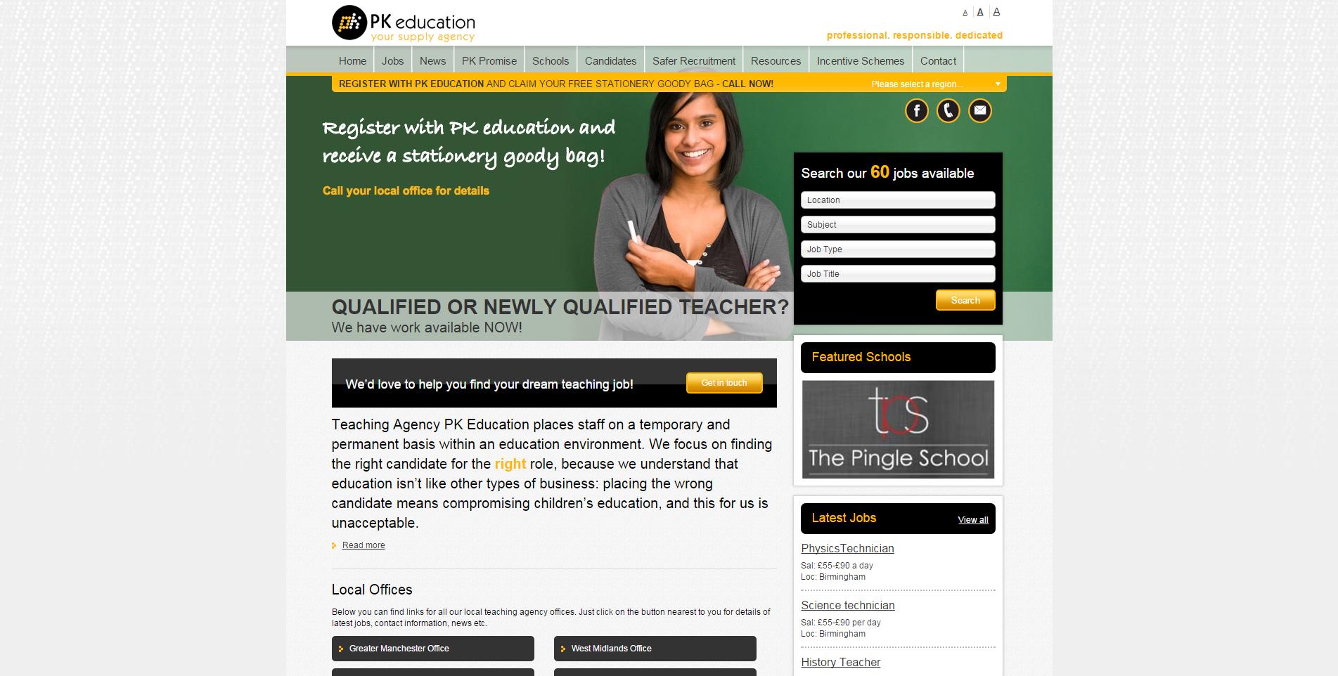 PK Education for teaching jobs in Manchester