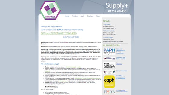 Supply Plus for teaching jobs in  plymouth