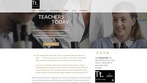 Teachers Today for teaching jobs in East Sussex