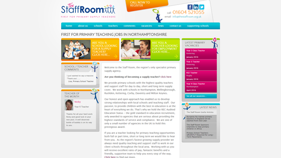 The Staff Room for teaching jobs in Northamptonshire