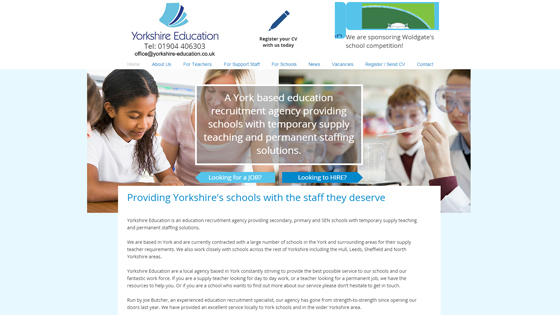 Yorkshire Education Recruitment for teaching jobs in North Yorkshire